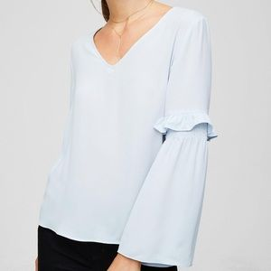 LOFT | Ruffle Bell Sleeve Blouse
